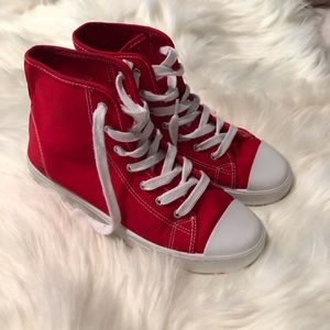 Forever 21 Red High Top Sneakers